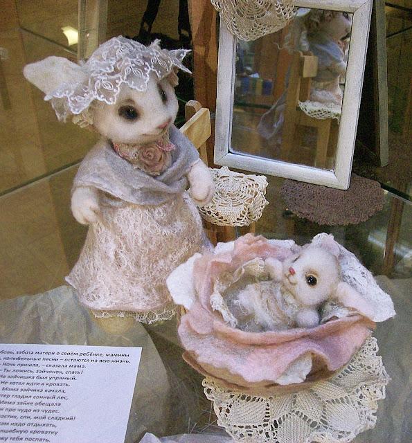 """Выставка авторской куклы в Самаре """"Куклы. Эмоции. Чувства."""", Ольга Бикмаева (Самара) """"Спи, мой зайка"""""""