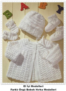 Örgü Bebek Hırka Modelleri 8