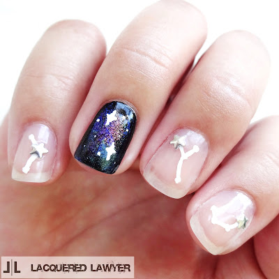 lacquered lawyer  nail art blog cute constellations