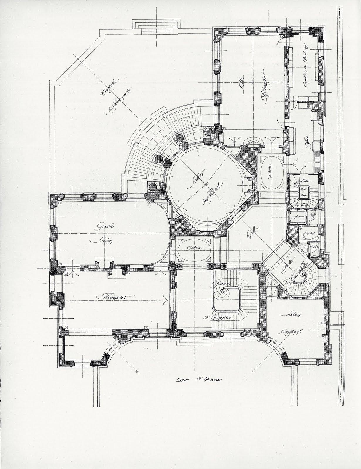 Mansion floor plans for Hotel design paris 8