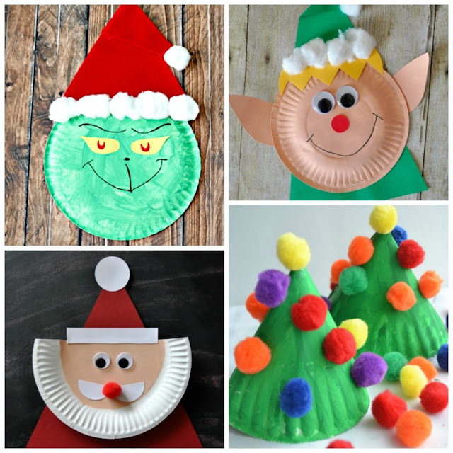 PAPER PLATE CHRISTMAS CRAFTS FOR KIDS & Paper Plate Christmas Crafts | Growing A Jeweled Rose