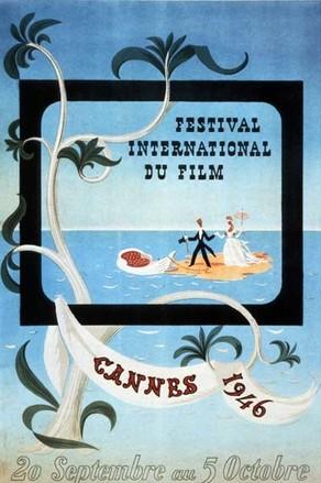 first cannes film festival poster artist Leblanc