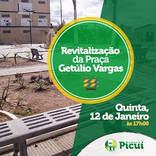 Prefeitura de Picuí promoverá revitalização da Praça Getúlio Vargas