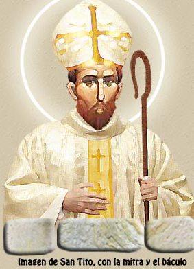 Imagen de San Tito con la mitra y báculo