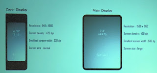 samsung's foldable phones screen as tab size