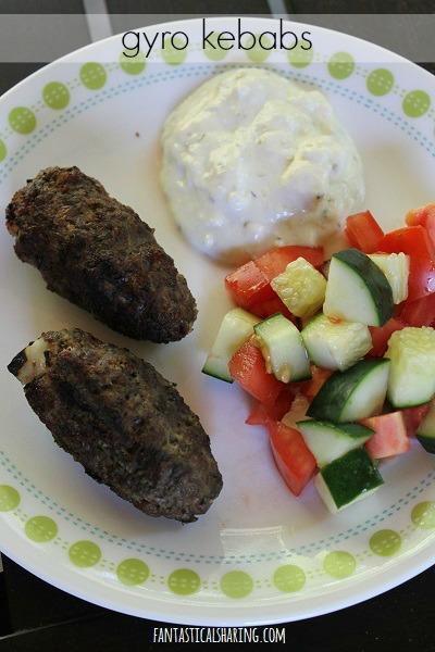 Gyro Kebabs #recipe #grill #lamb #kebabs #FantasticalFoodFight #kabobs #kababs