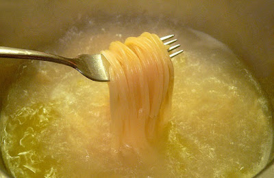 Espaguetis con guindillas