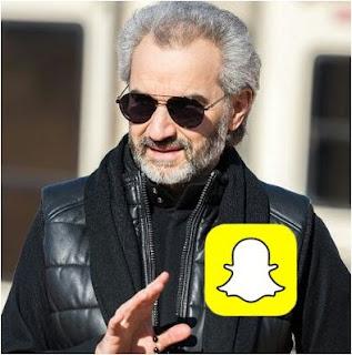 الوليد بن طلال يستثمر ربع مليار دولار في سناب شات Snapchat
