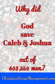 Why did God save Caleb and Joshua?