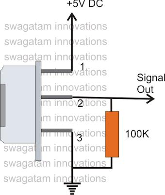 PIR sensor pull down resistor connection