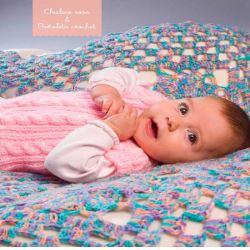 como tejer manta de bebe al crochet con punto de abuelita