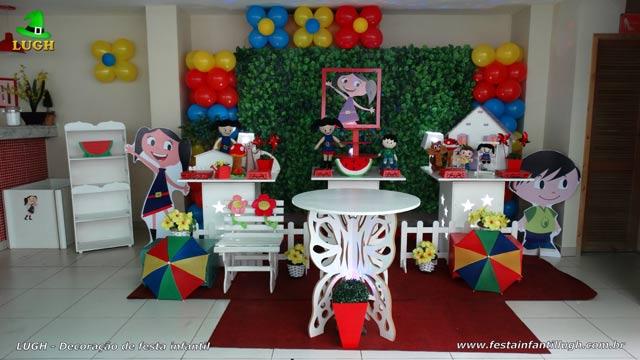 Mesa temática Show da Luna - Decoração de festa infantil