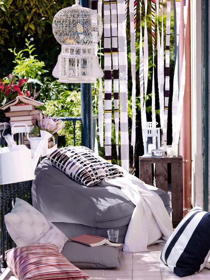 terraza de verano con productos Ikea