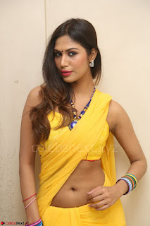 Nishigandha in Yellow backless Strapless Choli and Half Saree Spicy Pics 099.JPG