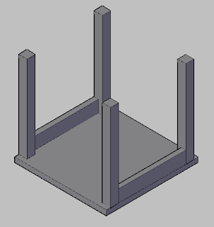 10 Hari belajar Autocad 3D - membuat side table