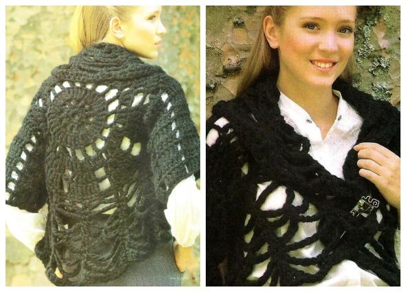 bolero, prendas tejidas, patrones para crochet, enrhedando