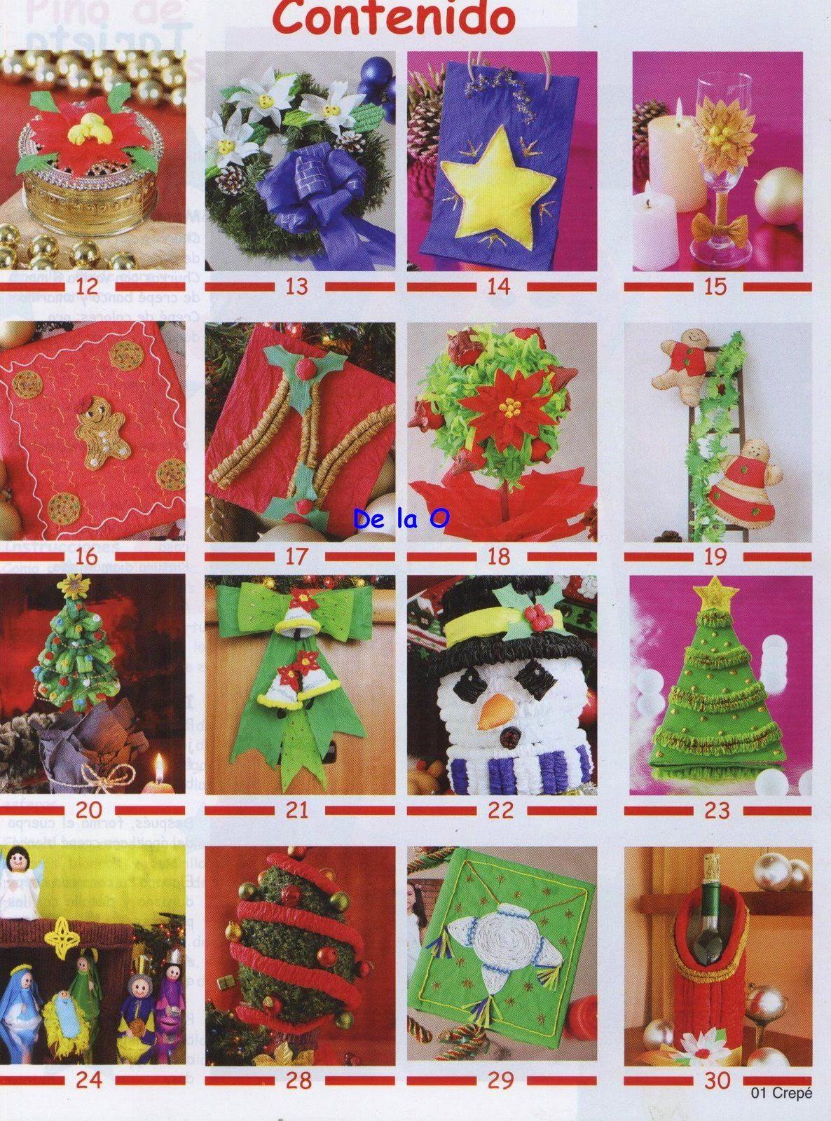 Manualidades En Papel Crepe Para Navidad Revistas De Manualidades