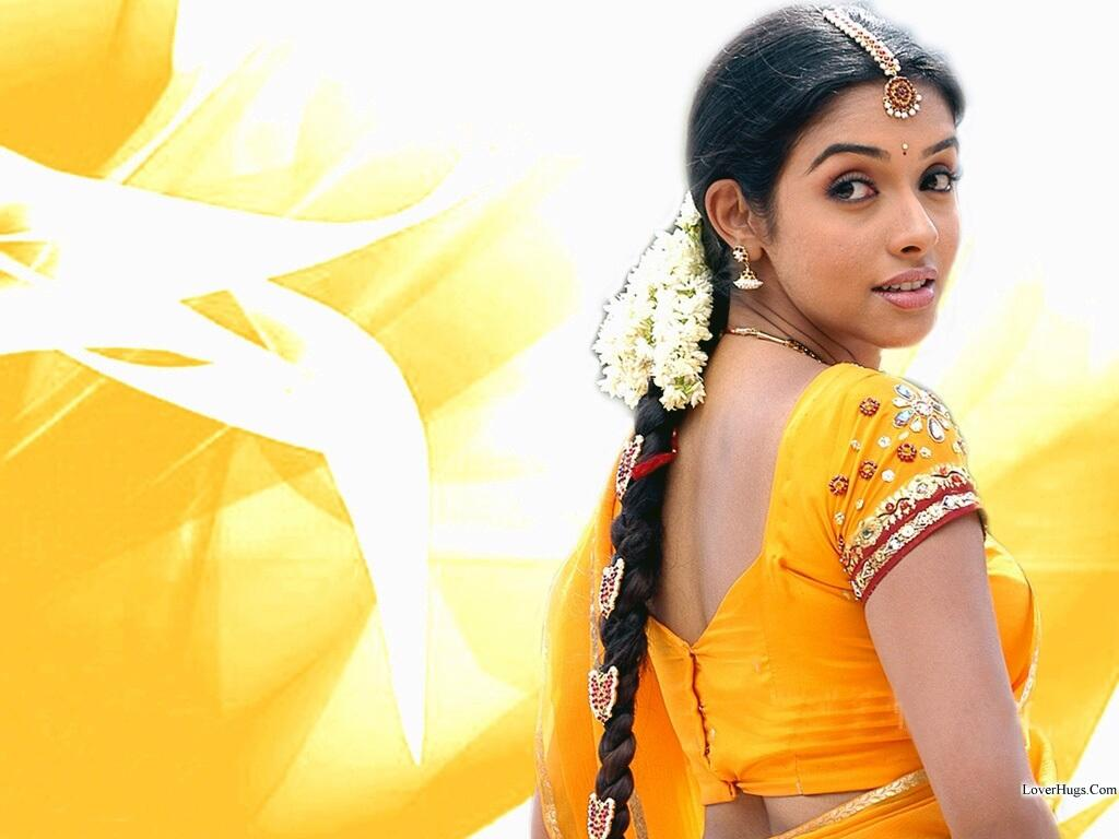 Only Actress Asin Yellow Saree-1082