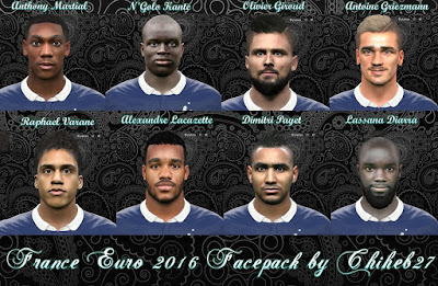 PES 2016 Euro 2016 France Facepack by Chiheb27