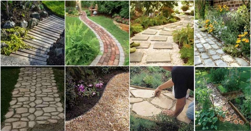 Diy beautiful garden path designs ideas decor units for Diy garden path designs