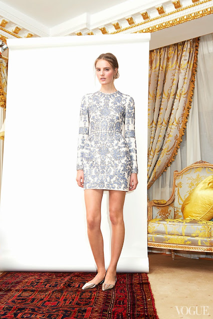 Tilda Lindstam wearing a Valentino long-sleeve white dress with embroidery
