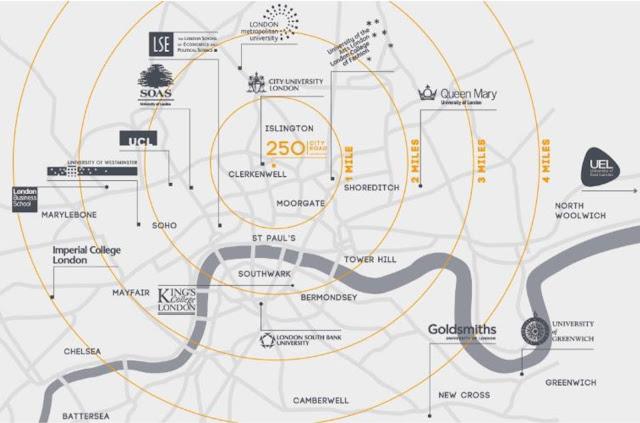 倫敦房地產 地圖