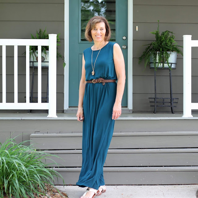 Butterick 6330 Maxi dress in rayon jersey from Style Maker Fabrics.