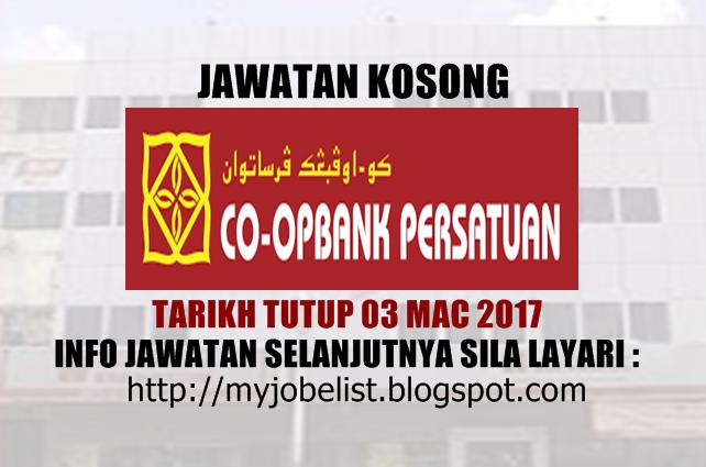 Jawatan Kosong Koperasi Bank Persatuan Malaysia Berhad Mac 2017