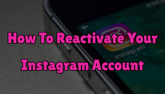 HOW TO REACTIVATE INSTAGRAM
