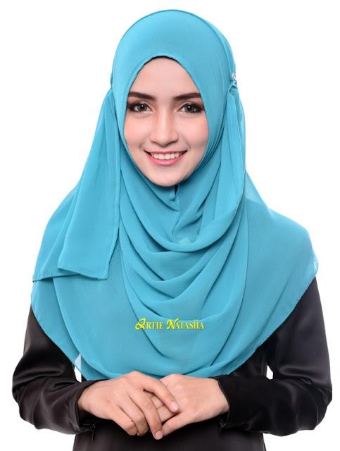 tudung chiffon instant shawl