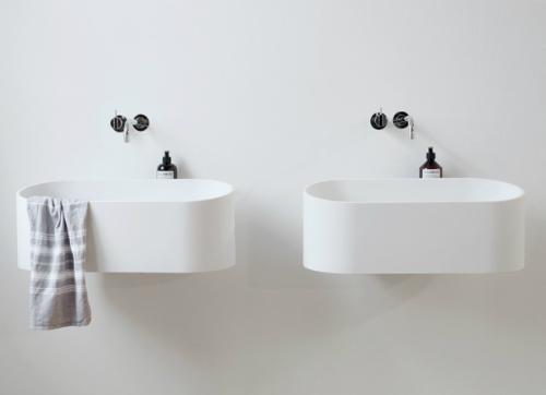 Mein Bad ist so groß wie ein Schuhkarton - das kommen mir diese schön-schlichten Waschbecken gerade recht