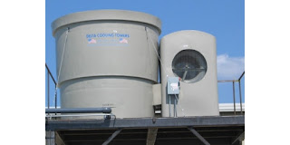 corrosion resistant HDPE cooling tower rated 50 tons with forced draft