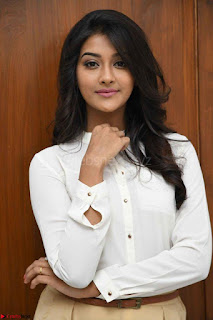Pooja Jhaveri in White Shirt and Brown Trousers Spicy Pics 07.jpg