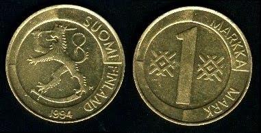 Finland 1 Markka (1993+) Coin