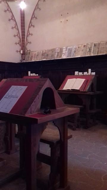 Skryptorium Pelplin pulpity pisanie biurka
