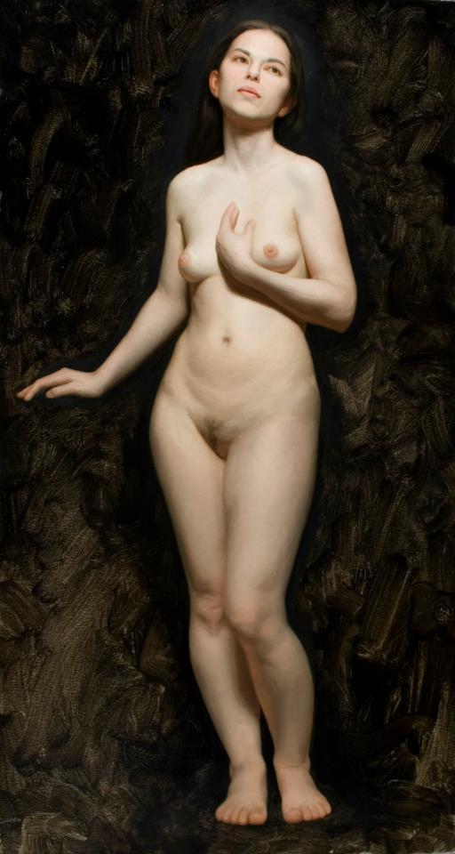 Naked woman legs spread