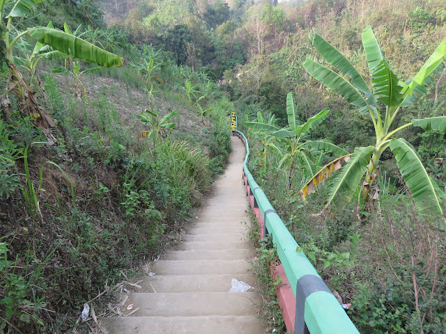 Stairs to go Risang Waterfall