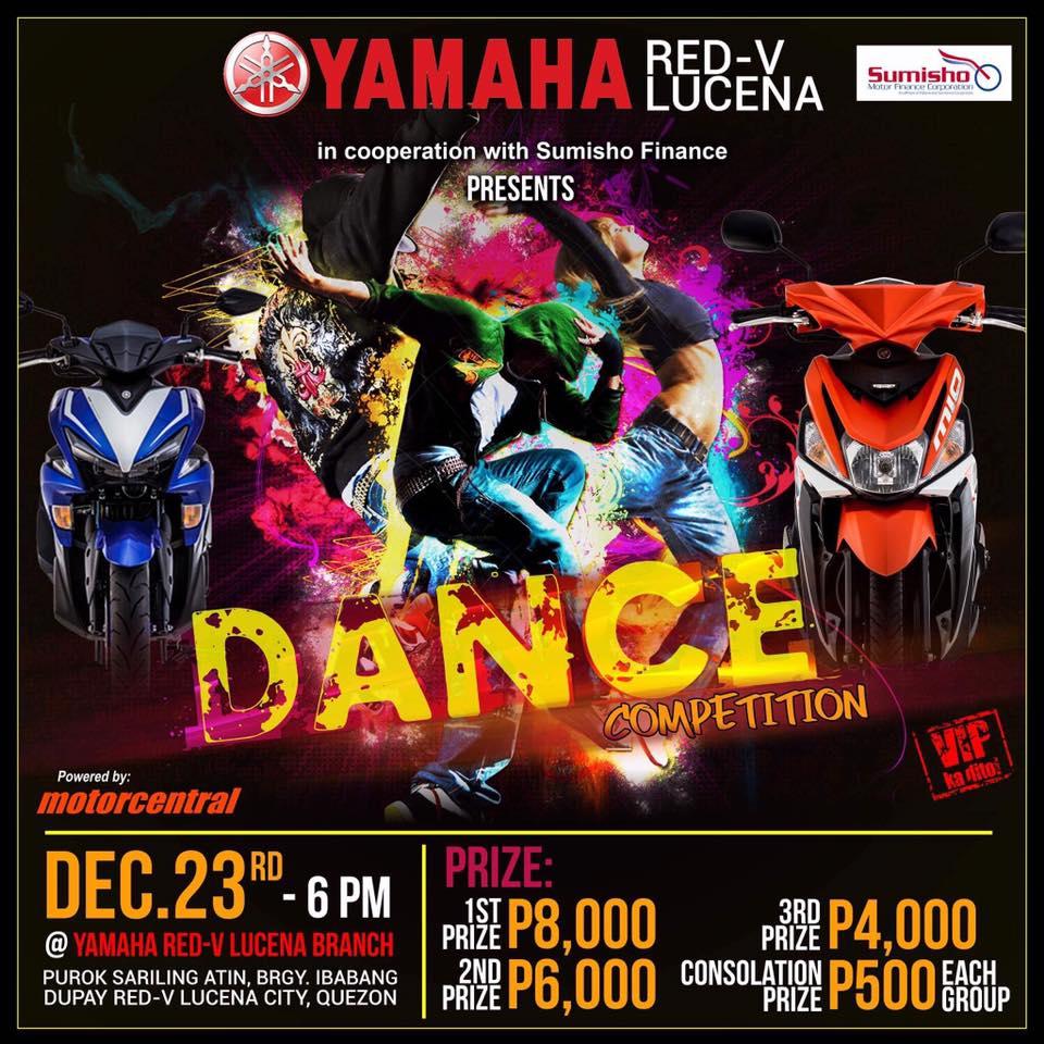 DANCE COMPETION When December 23 2017 Where Lucena City Prizes P8000 P6000 P4000 Consolation Prize P500 Per Group