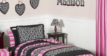 Toddler Bedding Sets Pink Black Madison Girls Kidsteen