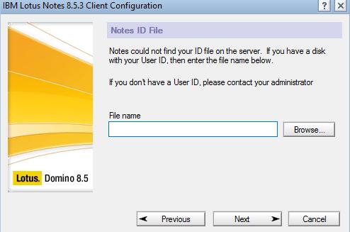 Thiết lập cho Lotus Notes 8.5.3 ở lần sử dụng đầu
