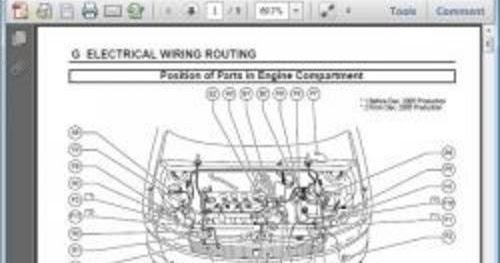 Famous Car Manual: Toyota Scion xB 2006 Electrical Wiring