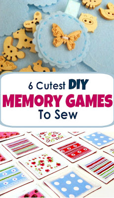 6 Cutest DIY memory games to sew - these easy sewing tutorials are great beginner projects