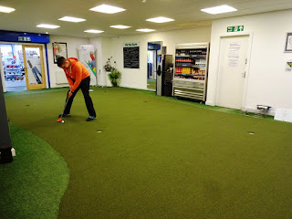 The Indoor Putting Studio at Clays Golf Centre