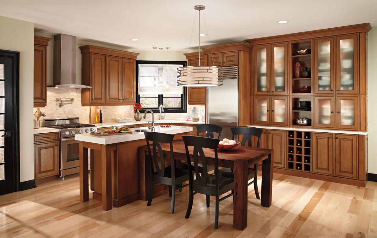 Waypoint Living Spaces 700 Series Cabinet Door Style: 760   760F Shown In  Maple Auburn Glaze