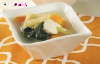 resep sup tahu daun horenso, resep sup tahu daun bayam jepang, sup bayam jepang, sop tahu bayam jepang