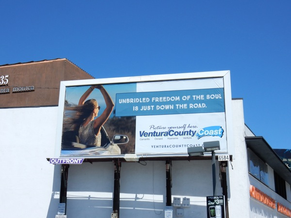 Ventura County Coast unbridled freedom billboard