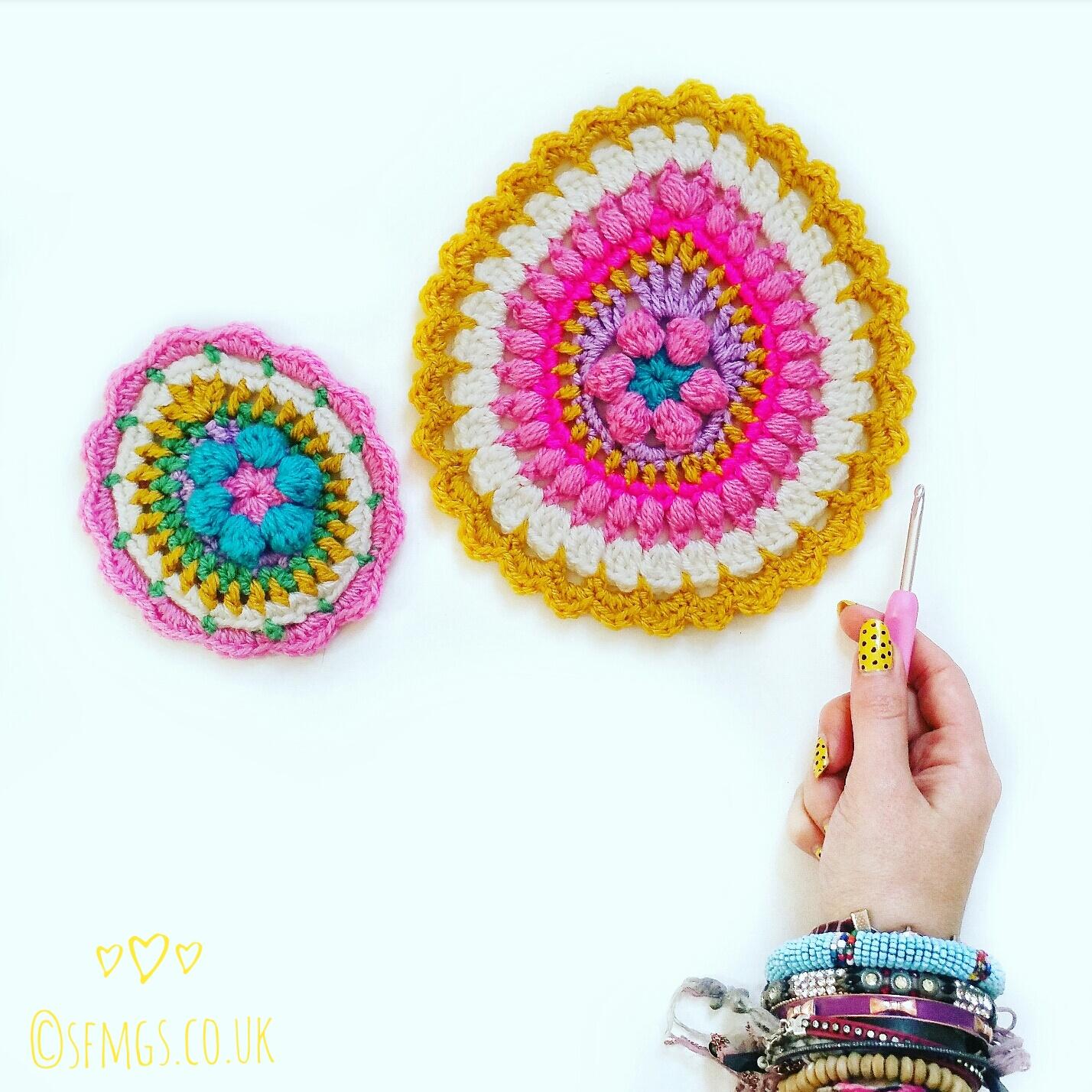 easter egg crochet pattern mandala bunting