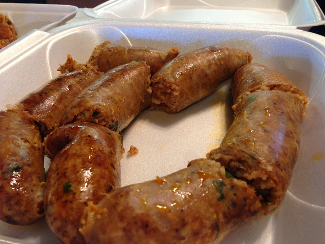 Boudin at Guillory's Famous Foods in Lake Charles