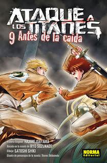 """Reseña de """"Ataque a los Titanes: Antes de la Caída"""" vol. 9 de Ryo Suzukaze y Satoshi Shiki - Norma Editorial"""