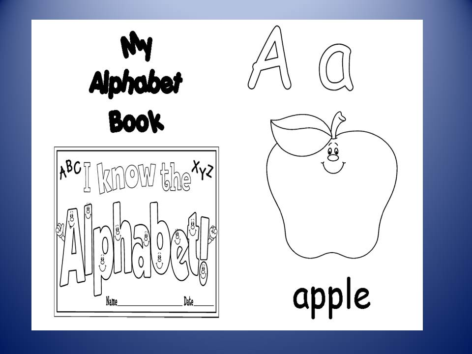Free abc book cover coloring pages for Printable alphabet book template